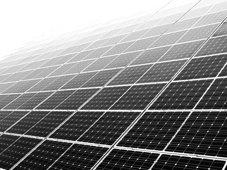 Solar Panel Close Up BW