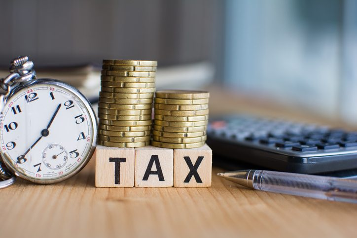 Close-up Of the word Tax