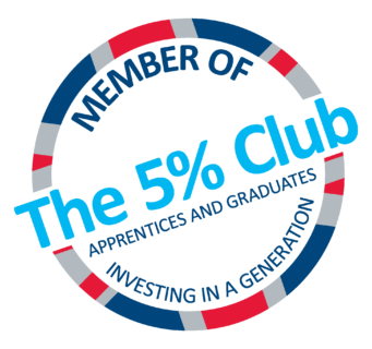 The 5% Club logo CMYK