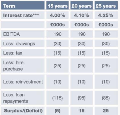 Loan Matrix Table