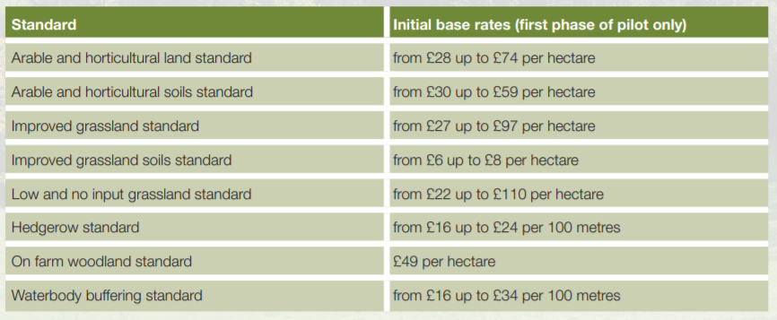 Standard & Proposed Payment Rates