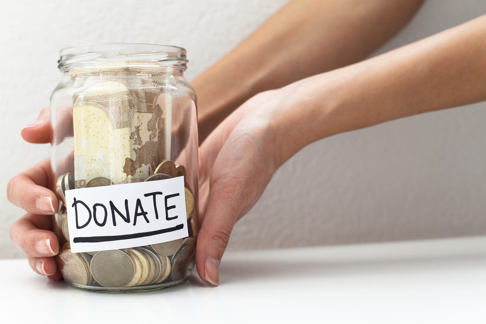 Donate Donation Money Jar